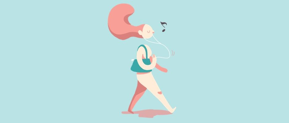 Mit Musik macht Beckenbodentraining besonders viel Spaß.