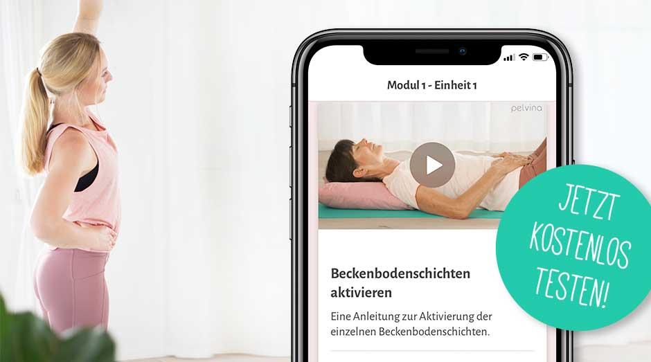 Beckenbodenschichten aktivieren per App